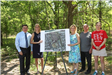 Elected officials gather to announce a land acquisition in Miller Place