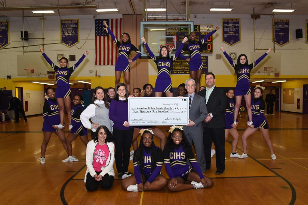 Dunphy Foundation Donation to CIHS Cheerleaders