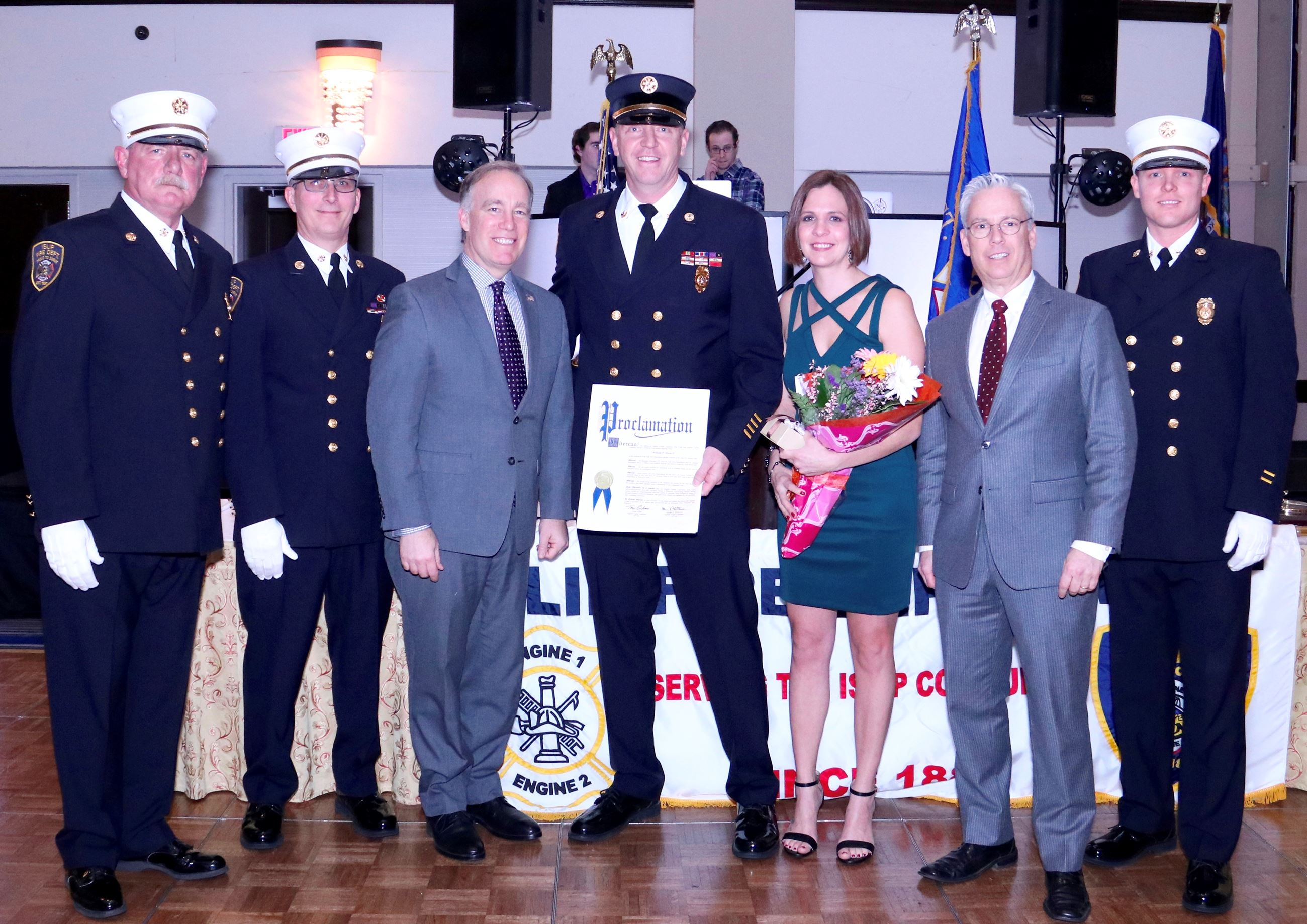 Legislators Honor Islip Fire Department