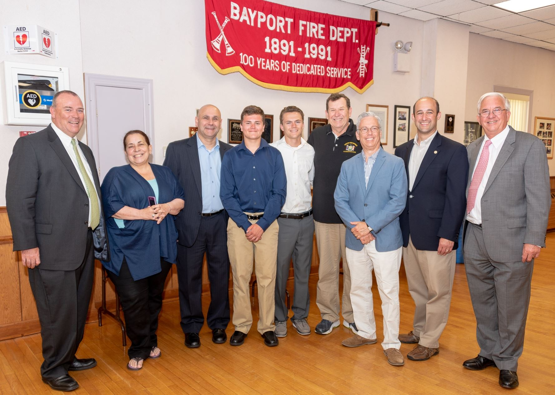 Bayport Fire Department Honorees