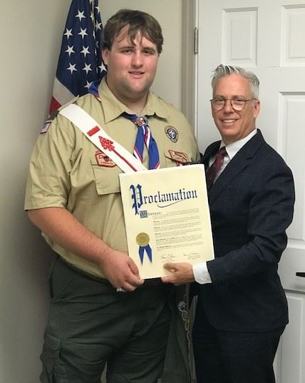 Eagle Scout Larvin