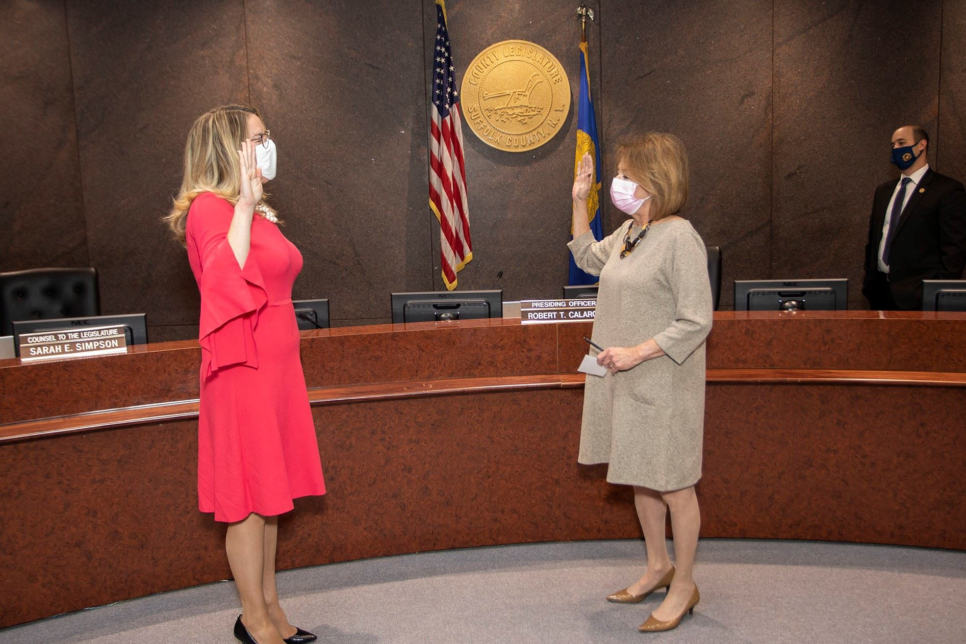 Kara Hahn Reelected as Legislature's Deputy Presiding Officer Oath of Office Photo Image