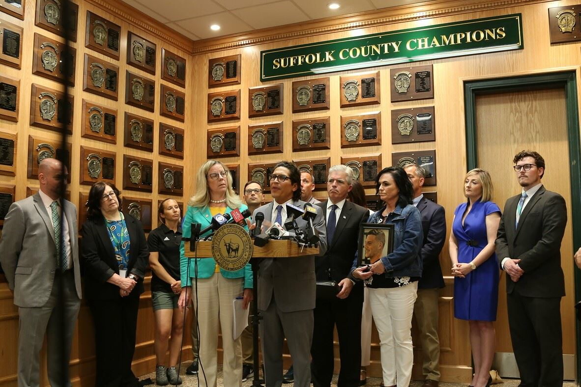 Suffolk Announces Innovative Approach to Combating Teen Substance Abuse Press Conference Photo 2